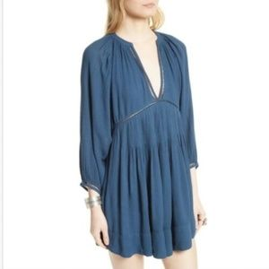 Free People V-neck 'Go Lightly' Swing Mini Dress S